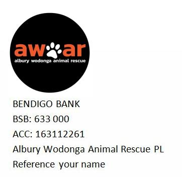 albury wodonga animal rescue bank donation detail
